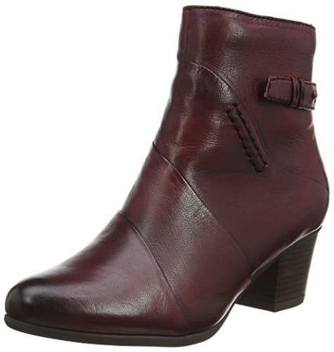 Tamaris 25302, Damen Kurzschaft Stiefel, Rot (rot (SCARLET501)), 38 EU (5 Damen UK)