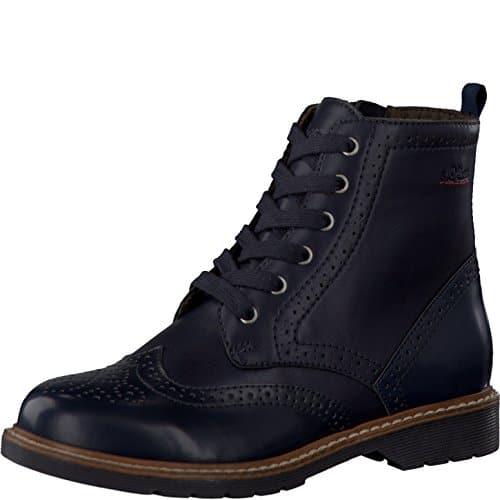 s.Oliver Damenschuhe 5-5-25465-27 Damen Schnürboots, Boots, Stiefel, Stiefeletten blau (NAVY), EU 39