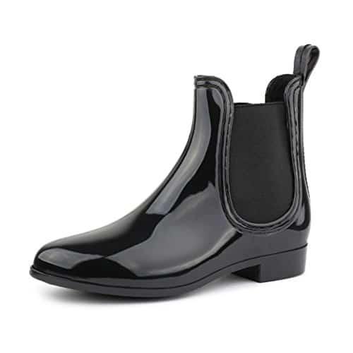 best-boots Damen Chelsea Boots Schuhe in Lack Blockabsatz SCHWARZ 743 Größe 36