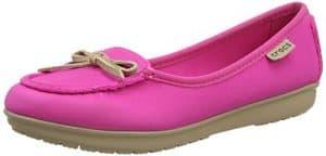 Crocs Wrap Colorlite Ballet Flat W, Damen Mary Jane Halbschuhe Pink Pink (Candy Pink/Tumbleweed) 41