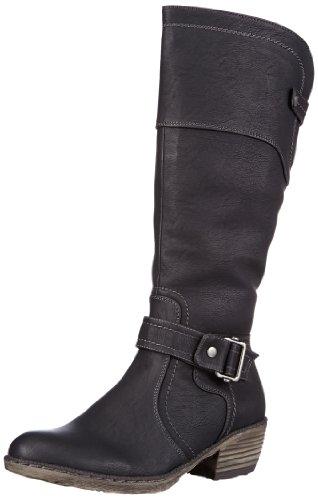 Rieker 93750, Damen Langschaft Cowboystiefel, Schwarz (schwarz/00), 38 EU (5 Damen UK)