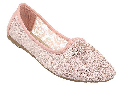 Dame-n-ballerina-s Frau-en-ballerin-as geschlossene-ballerina-s Closed-toe leder-ballerina-s flats Lackleder-schuhe Fashion-schuh-e ballet-schuh-e Spitzen-schuh-e Slipper Rosa 5 38